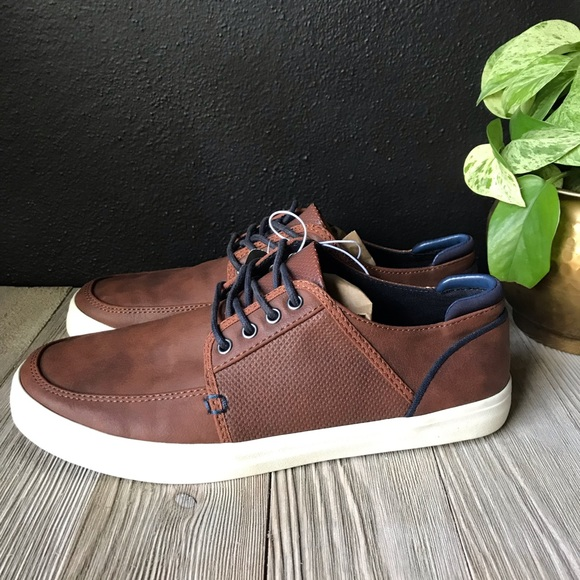 Boys Target Brand Faux Leather Brown